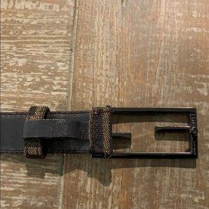 Fendi Accessories - Fendi Zucca Brown/Black Canvas Belt  75/US 30